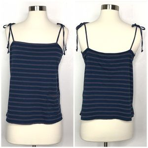 Current/Elliott Tops - Current/Elliot The Tie Knit Cami Blue Size 3 Large